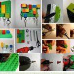¡Reciclemos los juguetes! Porta llaves realizado con ladrillitos