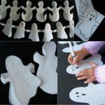 Guiranalda de fantasmas para decorar en Halloween