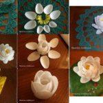 ¡Flores a tu mesa! Realiza con cucharas plásticas estas flores como centro de mesa