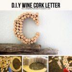 Paso a paso para cubrir letras con corchos de botellas recicladas