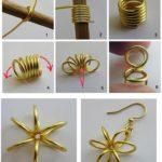 ¡Creando y disfrutando! Aros de alambre con forma de flor paso a paso
