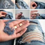 ¡La última tendencia de la moda! Paso a paso para realizar jeans rotos