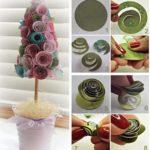 Delicado pino con rosas en tonos pasteles para utilizar como centro de mesa
