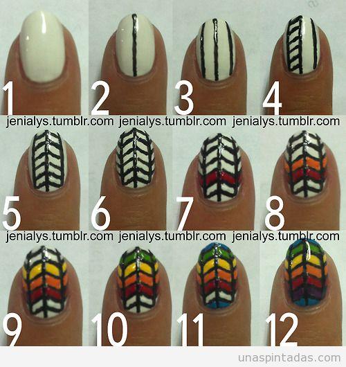 tutorial-paso-a-paso-diseño-uñas-estampado-geometrico-colores