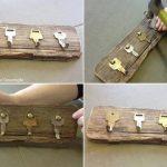 ¡Decoración rustica! Simples pasos para realizar un perchero reciclado con madera y llaves viejas
