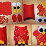 Búho realizado con cartulina ideal para souvenir de cumpleaños infantiles