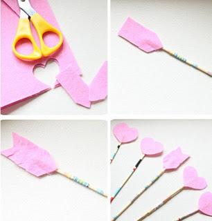 Como Hacer Flechas Romanticas de San Valentin, Manualidades Faciles para Decorar6