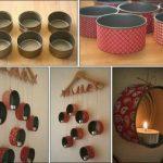 ¡Ponele onda a tus paredes! Simples y rápidos pasos para hacer un porta velas reciclado con latas de atún!