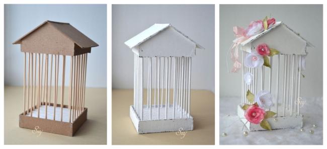 Una jaula para decorar tu hogar confeccionada con telgopor for Decoracion con jaulas