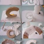 ¿Cómo hacer letras para decorar con papel mache y cartón?
