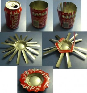como hacer un cenicero reciclando latas de bebidas