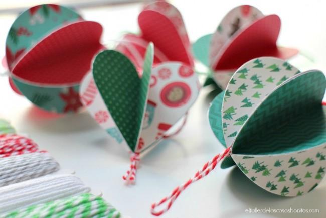 Original adorno para el rbol de navidad realizado con - Adornos de navidad con papel ...