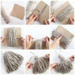 Paso a paso para hacer unas borlas de lana para decorar las ventanas del hogar