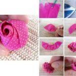 ¿Cómo hacer un pimpollo de rosa en tela?