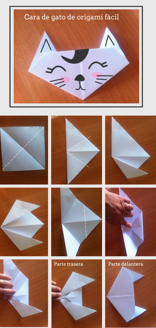 Tecnica De Origami Paso A Paso Para Hacer Un Gato De Papel Como