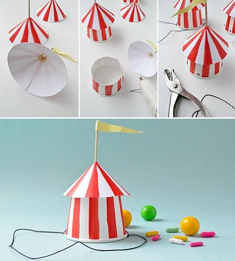 f7bd600b58d45 Gorro con forma de circo para entregar como souvenir en un ...