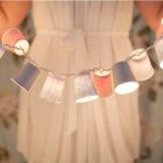 Ideas de guirnaldas con luces realizadas con vasos descartables
