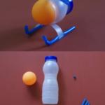 Helicóptero reciclado: Divertido juguete realizado con todos materiales reciclados