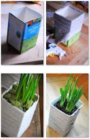Como Hacer Macetas Con Cajas De Carton Recicladas Como Hacer Todo