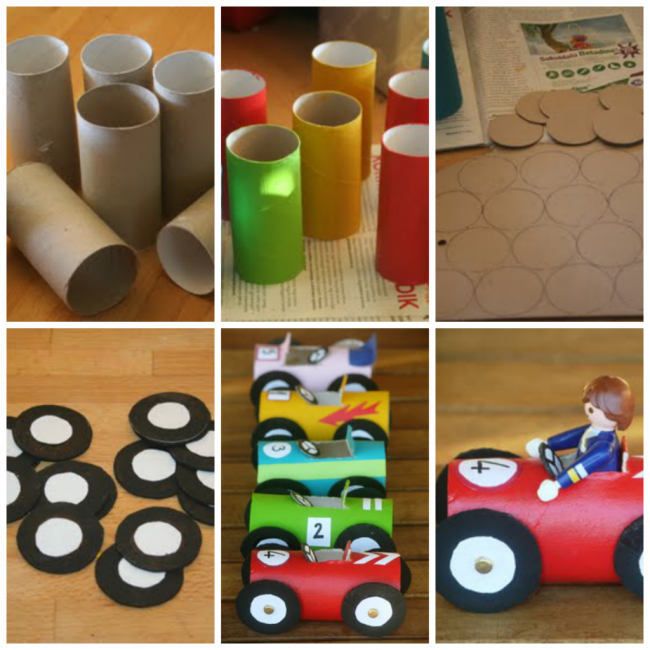 Juguete para ni os realizados con material reciclable for Manualidades con palets paso a paso