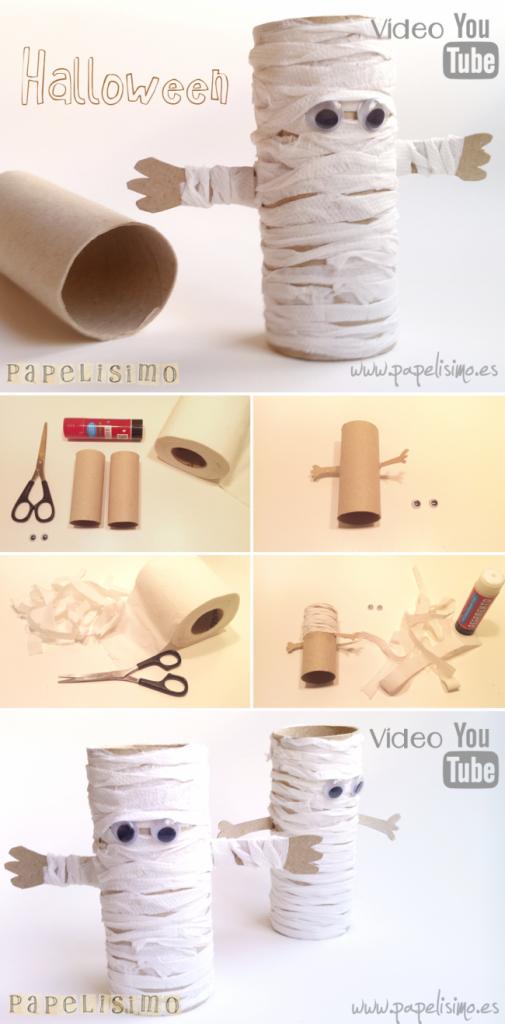 manualidades-faciles-niños-como-hacer-momia-papel-halloween-DIY-paper-mummy-pasos1