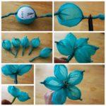 Hermosas flores decorativas en papel de seda para alegrar tu decoración