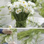 Delicado y Original arreglo floral para una boda campestre