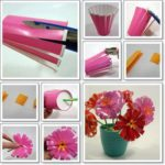 Alegra tu oficina! realiza flores recicladas con vasos de plástico