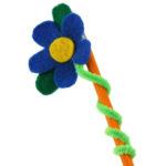 Flores para decorar lapices como souvenirs de cumpleaños