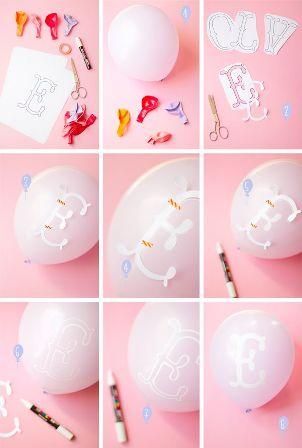 Decorar-globos-con-letras-y-marcadores