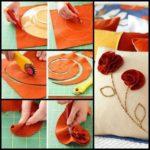 ¿Cómo hacer flores de fieltro para lograr decorar un almohadón?