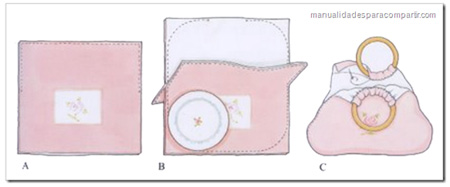 como hacer bolsa de tela manualidades