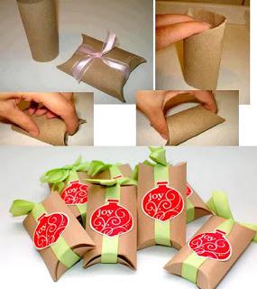 envolturas de regalos dulceros navideños paso a paso reutilizando materiales rollos de papel higienico