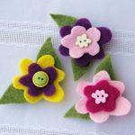 ¿Cómo hacer flores de fieltro con imanes para decorar el hogar?