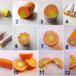 ¿Cómo hacer rodajas de naranja realizadas en mazapán?