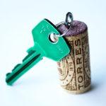 Ideas con corchos: Práctico y económico llavero