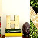 ¿Cómo hacer una Letra de cartón dorada para la decoración del hogar?
