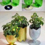 Cómo realizar originales macetas realizadas con material reciclable de plástico