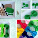 ¿Cómo decorar los broches con moños de fieltro en diferentes colores?