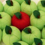 Cómo hacer manzanas de tela: Paso para realizar manzanas en fieltro