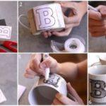 Taza personalizada con letra inicial para regalar