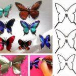 Mariposas de colores realizadas con material reciclable ¿Cómo hacerlas?