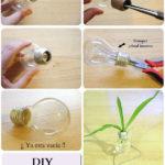 Cómo hacer floreros realizados con un foco…. paso a paso