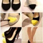 Cómo reciclamos viejos zapatos para una velada especial
