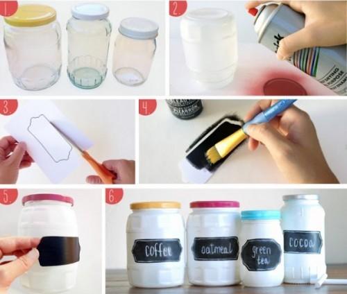 C mo hacer de todo con frascos de vidrio para la cocina for Todo para la cocina