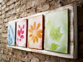 ideas para hacer cuadros Divertidos Cuadros Realizados Con Hojas De Plantas O Rboles