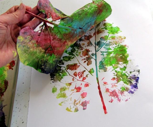Divertidos cuadros realizados con hojas de plantas o árboles ¿Cómo ...